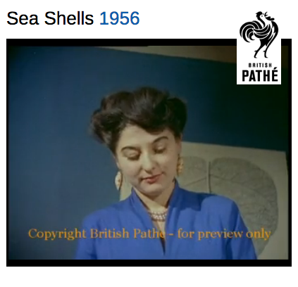 Millicent Rich, Sea Shells, 1956 film, British Pathé