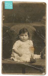 Milly Rich aged 1.5 years, 1918 photograph