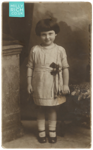 Milly Rich aged 5 years old, 1922 photograph