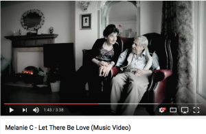Milly Rich in Melanie C - Let There Be Love, music video, Milly aged 94, 2011