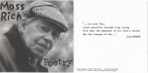Moss Rich - his poetry - CD 2003