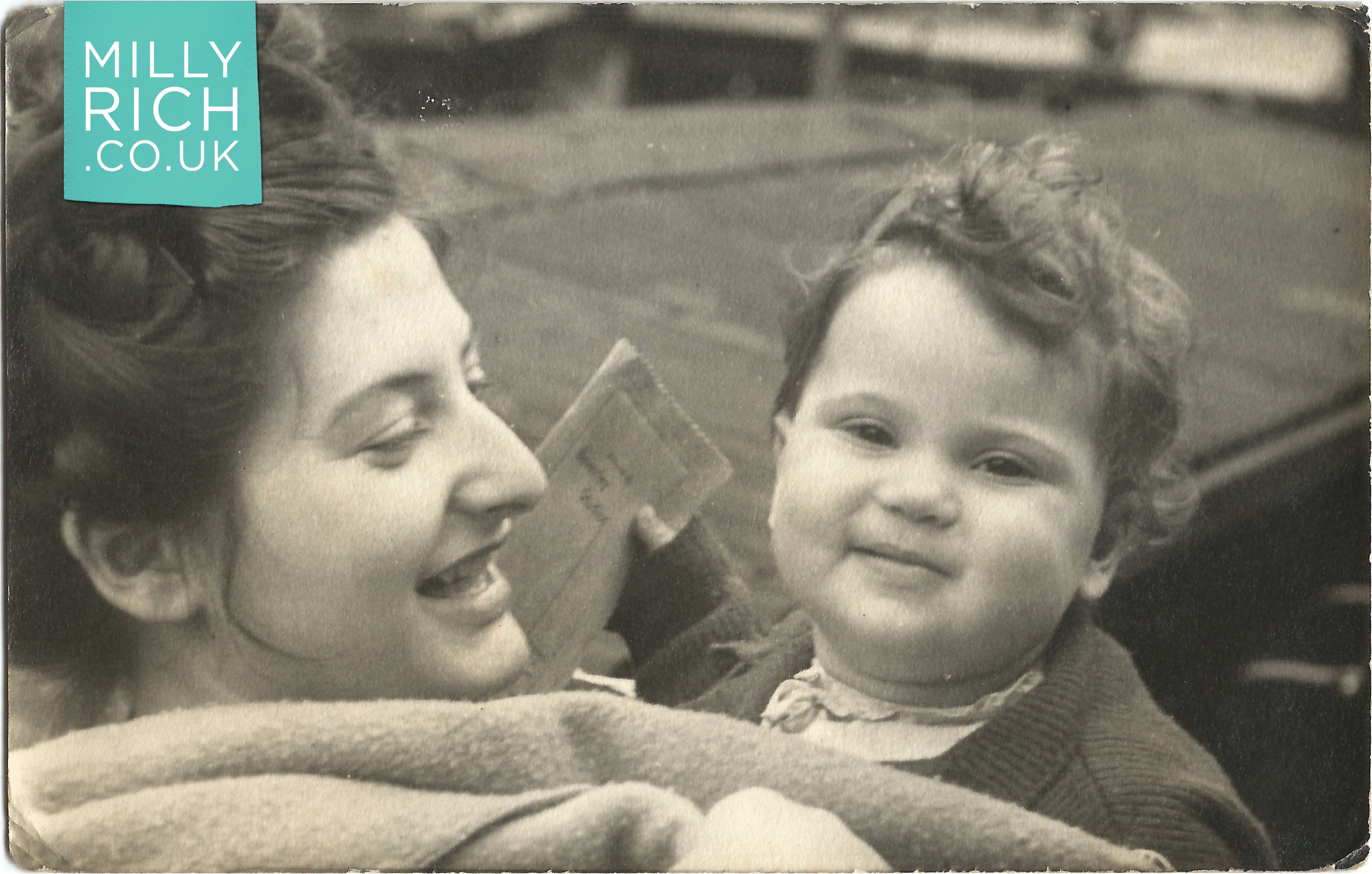 Milly and Shula Rich 1948, Balham, London